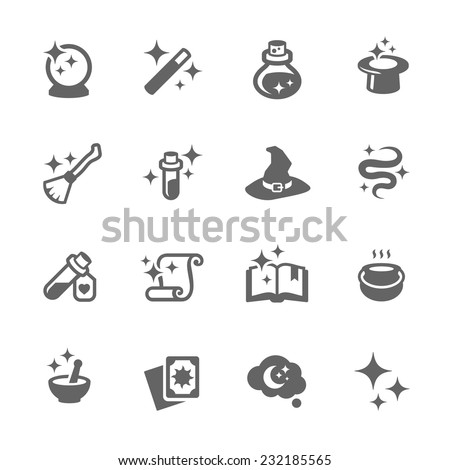 Simple Set of Magic Related Vector Icons for Your Design.  - stock vector
