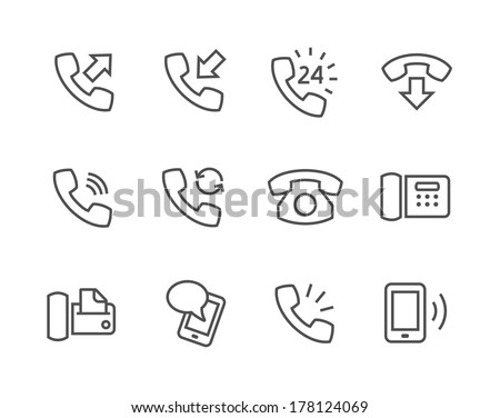 Simple set of phones related vector icons for your site or application. - stock vector