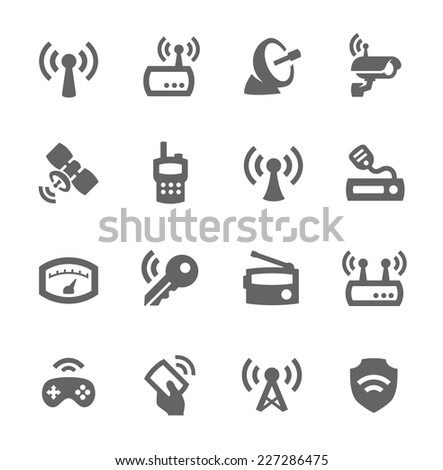 Simple Set of Radio Related Vector Icons for Your Design. - stock vector