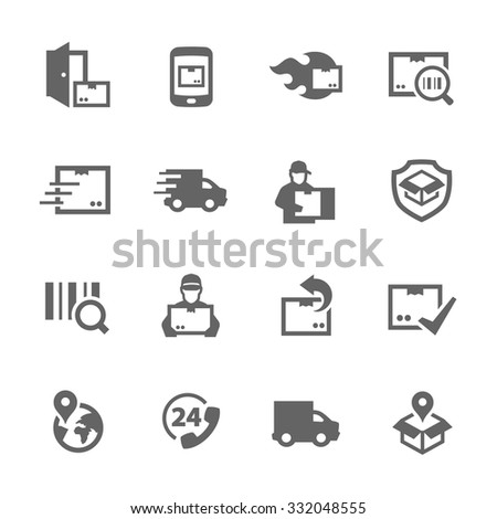 Simple Set of Shipping and Delivery Related Vector Icons for Your Design. - stock vector
