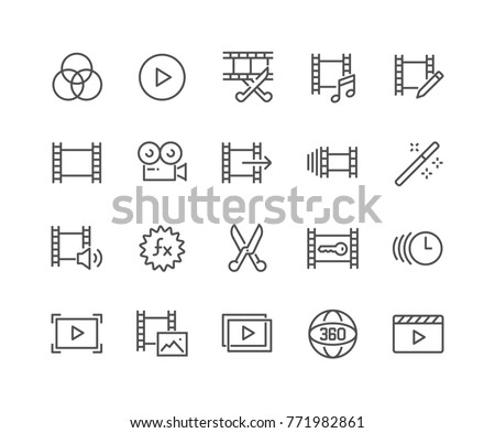 Simple Set Video Editing Related Vector Stock Vector 771982861 ...