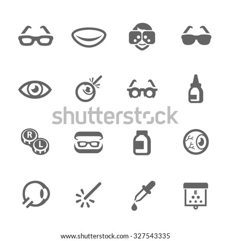 Simple Set Optometry Related Vector Icons for Your Design. - stock vector