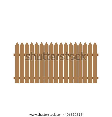 Simple shaped brown fence