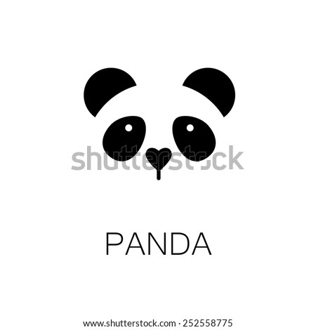 simple sign a panda - design template - stock vector