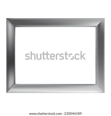 simple metal frame  simple silver metal frame