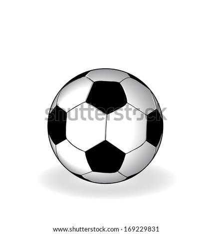 Simple soccer ball vector artwork  - stock vector