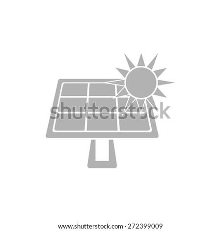 Simple solar battery icon. - stock vector