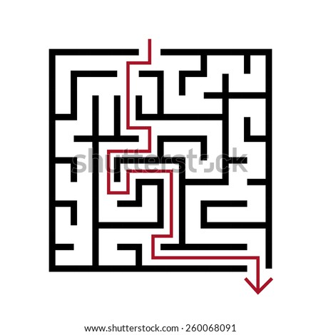 Simple Maze Stock Images, Royalty-Free Images & Vectors ... Simple Square Maze