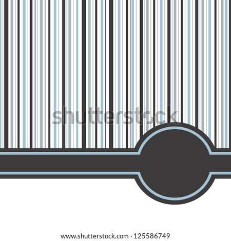 Simple Striped Background - stock vector