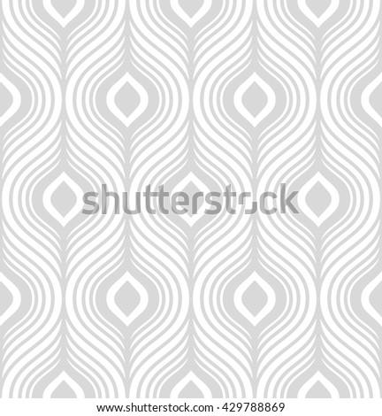 Simple stylish geometric seamless pattern. Vector illustration - stock vector