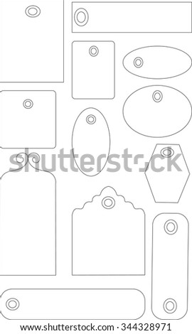 simple tags label isolated vector
