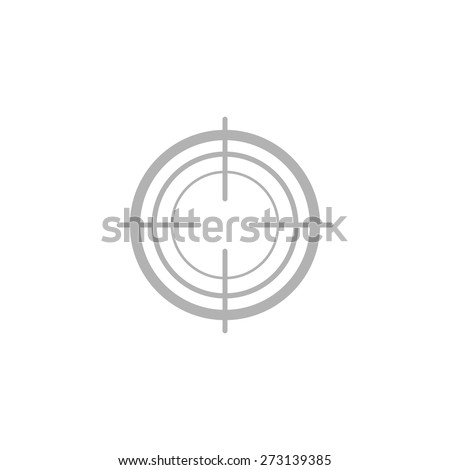 Simple target icon. - stock vector