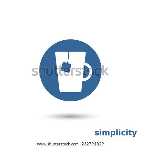 simple teacup - stock vector