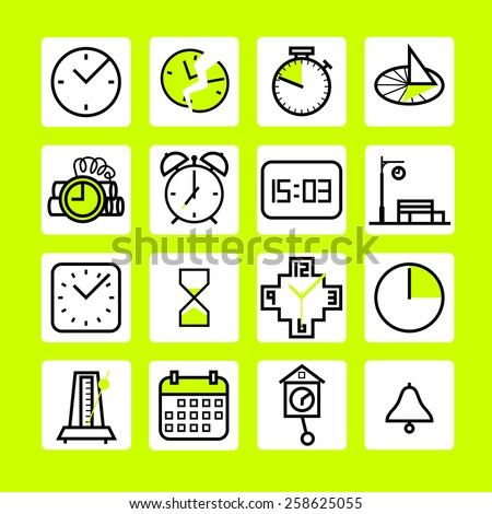 Simple time icons set