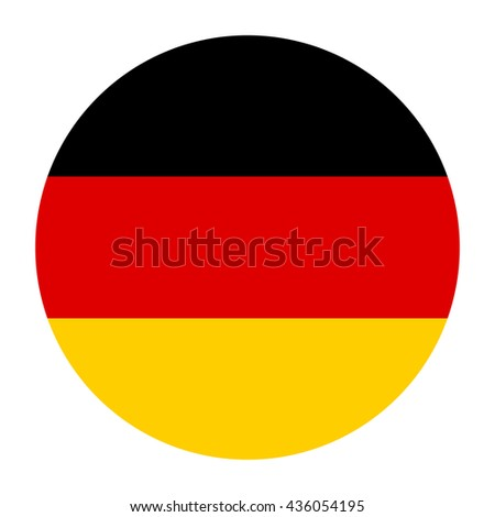 Simple vector button flag - Germany