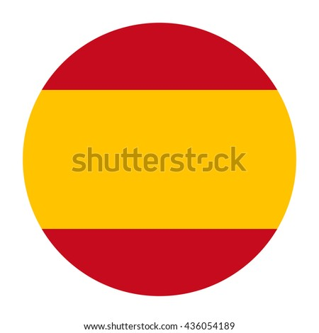 Simple vector button flag - Spain