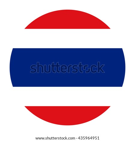 Simple vector button flag - Thailand