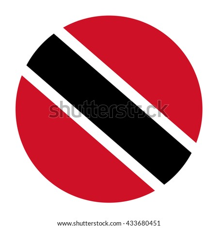 Simple vector button flag - Trinidad and Tobago
