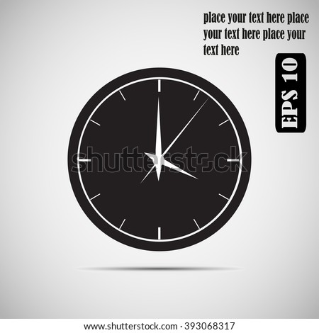 Simple vector icon wall clock silhouette stock vector 393068317 simple vector icon of wall clock silhouette ccuart Choice Image