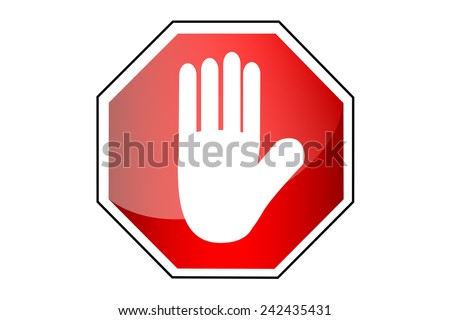Simple vector Sign - Stop