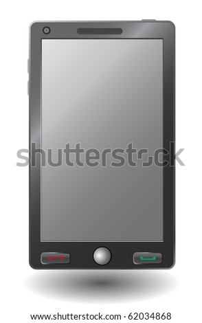 Simple vector smart phone - stock vector