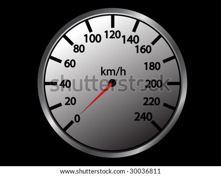 simple vector speedometer - stock vector