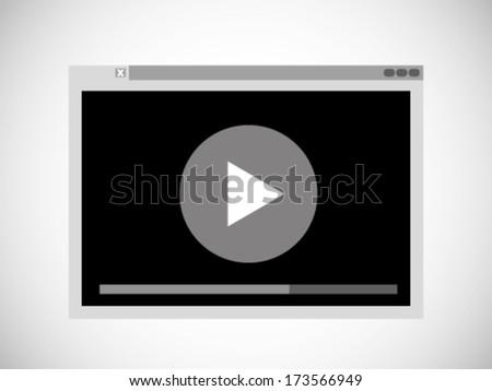 Simple Video Illustration  - stock vector