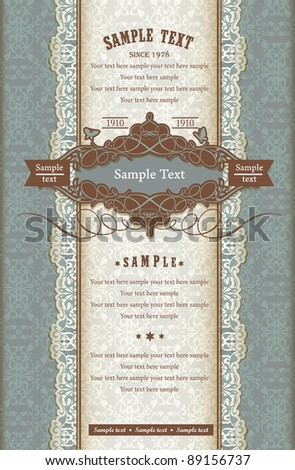 Simple Vintage card - stock vector