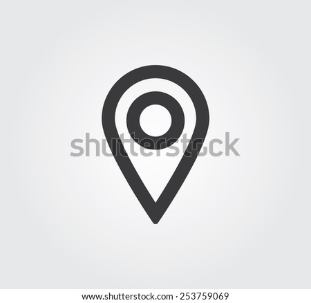 Simple web icon in vector: address - stock vector