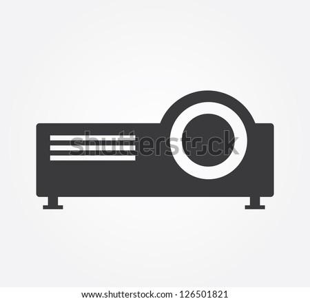 Simple web icon in vector: projector - stock vector