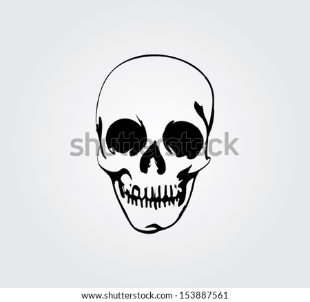 Simple web icon in vector: skull and bones - stock vector
