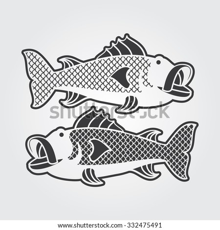 Simple Web Icon: River Fish