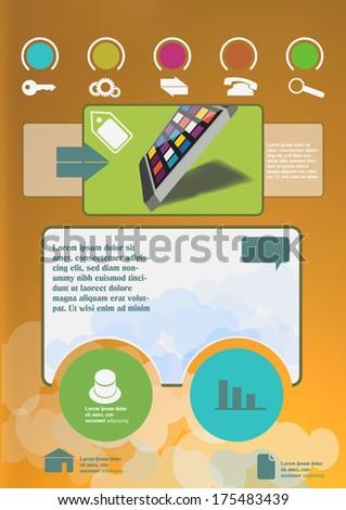 Simple website design template - stock vector