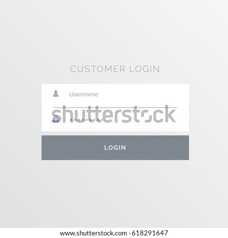 Simple White Login Form Template Design Stock Vector (2018 ...