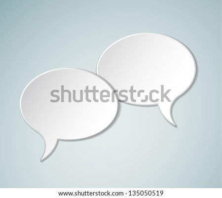 Simple white Vector Comic Speech bubbles - stock vector