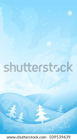 Simple winter background