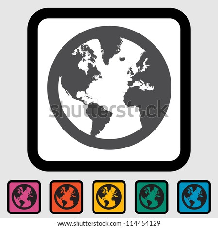 Simple World globe. Vector illustration EPS 8.. - stock vector