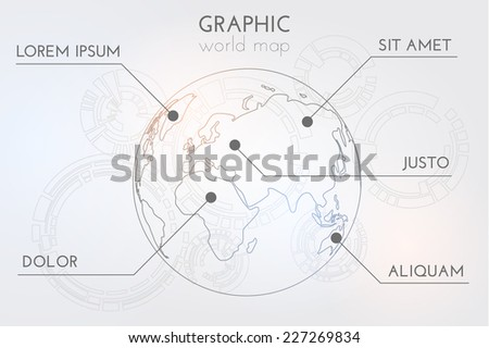 Simple world map globe background vector stock vector 2018 simple world map globe background vector eps10 gumiabroncs Gallery