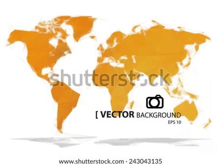 Simple world map orange paint vectores en stock 243043135 shutterstock simple world map orange paint gumiabroncs Image collections
