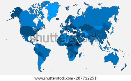 Simplicity straight outline line world map stock vector royalty simplicity straight outline line world map vector illustration gumiabroncs Gallery