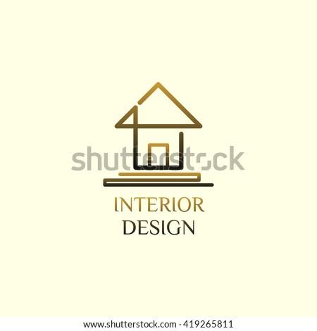 Simply Interior Design Logo Vector