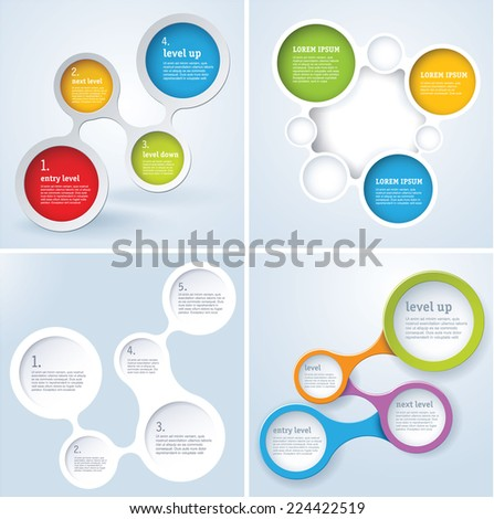 Simply minimal infographic template design set. Vector. - stock vector