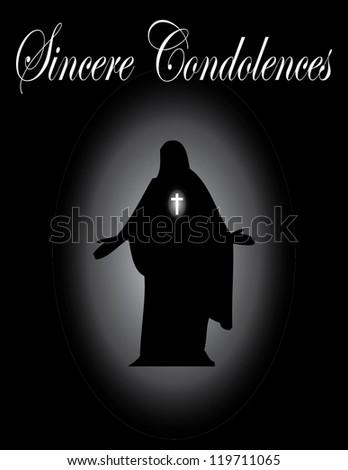 sincere condolence card - stock vector