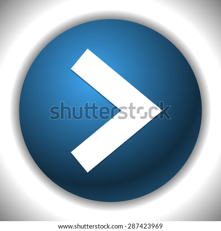 Sing arrow (arrowhead) button or icon. Arrow right. - stock vector