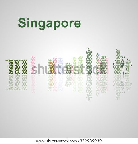 Singapore skyline for your design, concept Illustration.