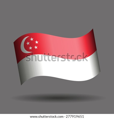 Singapore waving flag