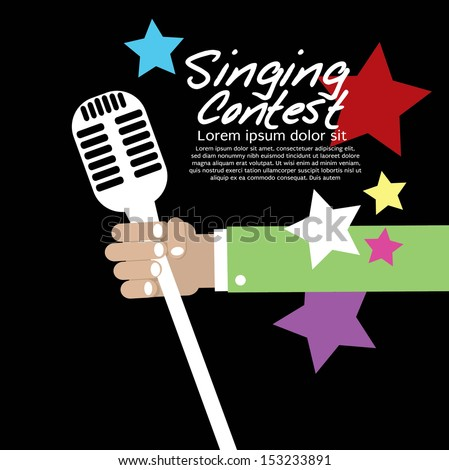 Singing Contest Conceptual Vector Illustration EPS10 - stock vector