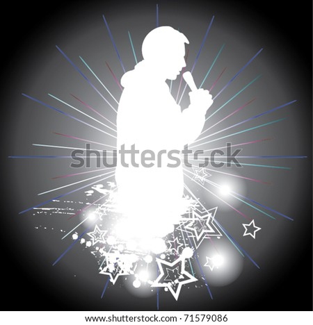 Singing men - stock vector