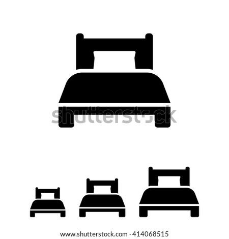 Single bed - stock vector