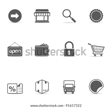 Single Color Icons - E-commerce - stock vector